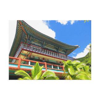 Templo budista coreano lienzo