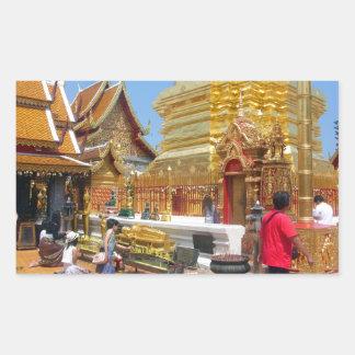 Templo budista de Doi Suthep Pegatina Rectangular