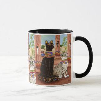 Templo de la taza del arte del gato de la diosa de