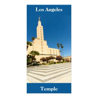 Templo de Los Ángeles LDS de la tarjeta de imagen