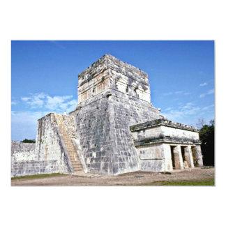 Templo de los jaguares, Chichen Itza Invitación 12,7 X 17,8 Cm