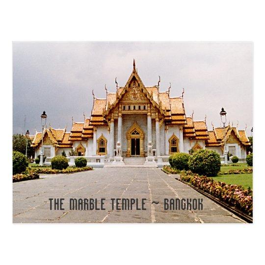Templo de mármol del oro sobre la tarjeta de