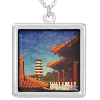 Templo de NaN Tien Vista de la pagoda y del templ Grimpola Personalizada