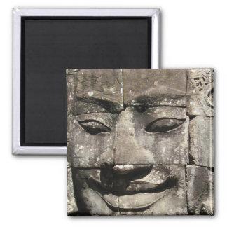 Templo de piedra de Bayon de la cara del Khmer…, C Imán De Frigorifico