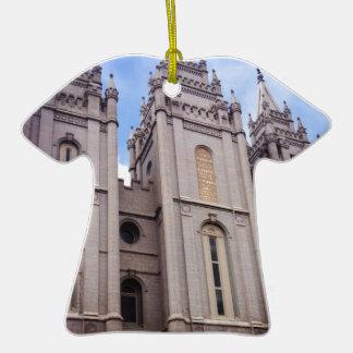 Templo de Salt Lake City Adorno De Cerámica En Forma De Camiseta