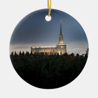 templo de Utah de los lds de la montaña del oquirr Ornamentos Para Reyes Magos