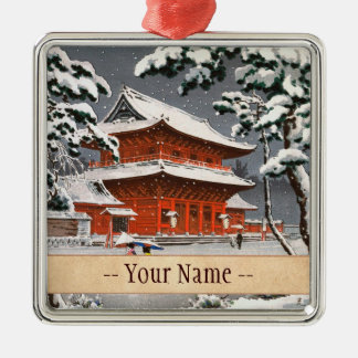 Templo de Zojoji en escena del invierno de Tsuchiy Ornamento Para Reyes Magos