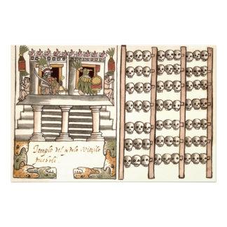 Templo del Azteca del estante del cráneo de Impresiones Fotograficas