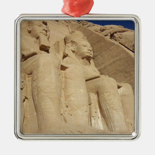 Templo Egipto de Abu Simbel Ornamento De Navidad