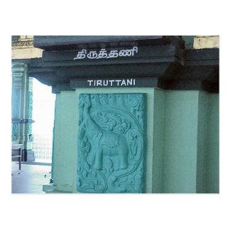 Templo hindú de Chettiar, decoración del elefante Postal