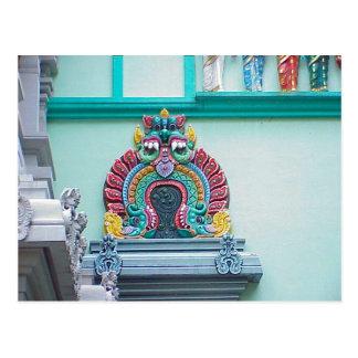 Templo hindú de Chettiar, decoración Postal