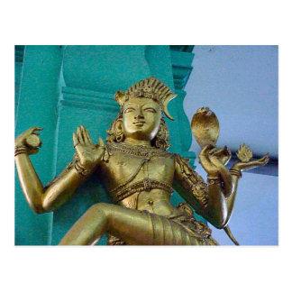 Templo hindú de Chettiar, estatua de dios Postal