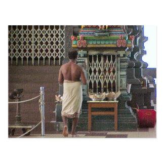 Templo hindú de Chettiar, sacerdote hindú Postal