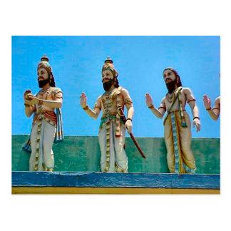 Templo hindú, defendiendo el templo postal