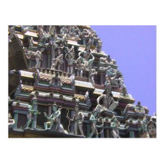 Templo hindú, detalle de la decoración del gopuram postal