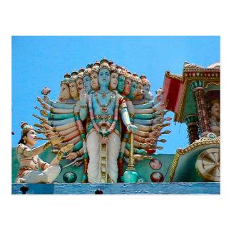 Templo hindú, estatua del goddesse postal