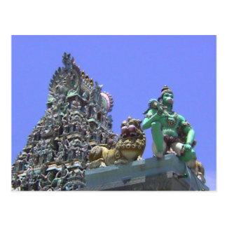 Templo hindú Gopuram y decoración del mono Postal