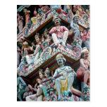 Templo hindú - la poca India, Singapur Postales