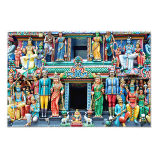 Templo hindú Singapur Fotografias