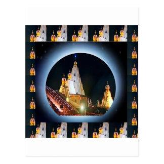 Templo indio: Decoraciones de Diwali Tarjetas Postales