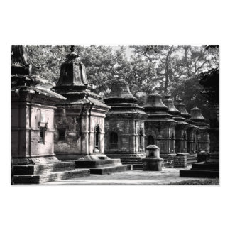 Templo Lingams de Pashupatinath Impresión Fotográfica