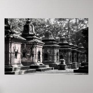 Templo Lingams de Pashupatinath Póster