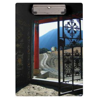 Templo tibetano carpeta de pinza