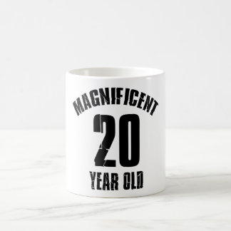 TENDER DISEÑOS DEL CUMPLEAÑOS DE 20 AÑOS TAZA DE CAFÉ