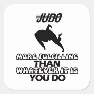 Tender DISEÑOS del judo Pegatina Cuadrada