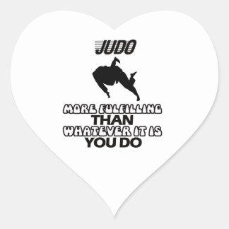 Tender DISEÑOS del judo Pegatina En Forma De Corazón
