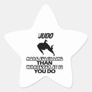 Tender DISEÑOS del judo Pegatina En Forma De Estrella