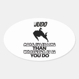 Tender DISEÑOS del judo Pegatina Ovalada