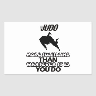 Tender DISEÑOS del judo Pegatina Rectangular