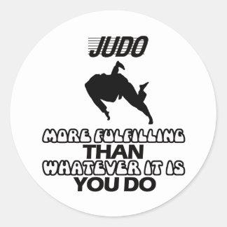 Tender DISEÑOS del judo Pegatina Redonda