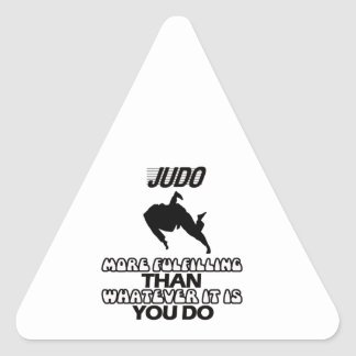 Tender DISEÑOS del judo Pegatina Triangular