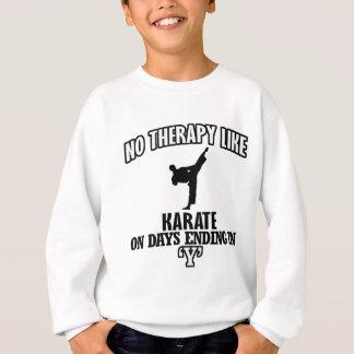 Tender diseños del karate sudadera