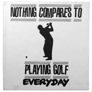 Tender diseños frescos del golf servilleta de tela