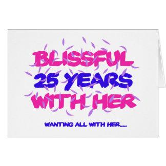 Tender los 25tos diseños del aniversario de la tarjeta de felicitación