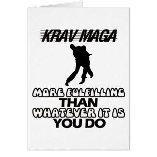 Tender los DISEÑOS de Krav Maga Tarjeta De Felicitación