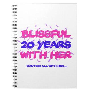 Tender los vigésimos diseños del aniversario de la cuaderno