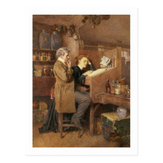 Tendero y esposa, 1868 postal