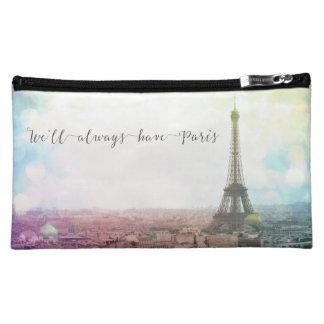 Estuches de maquillaje con la foto de Paris