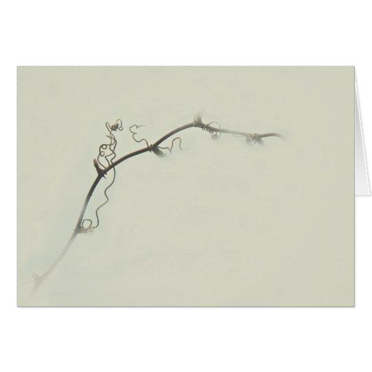 Tendrils de la zarza en la niebla - Minimalism Tarjeta De Felicitación