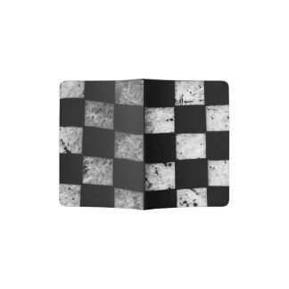 Tenedor a cuadros del pasaporte de la bandera portapasaportes