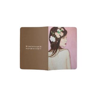 Tenedor bonito del pasaporte del retrato porta pasaportes
