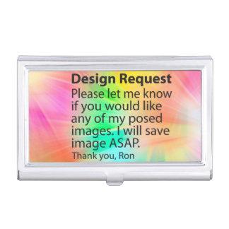 Tenedor de encargo de la tarjeta de visita de la p caja de tarjetas de negocios