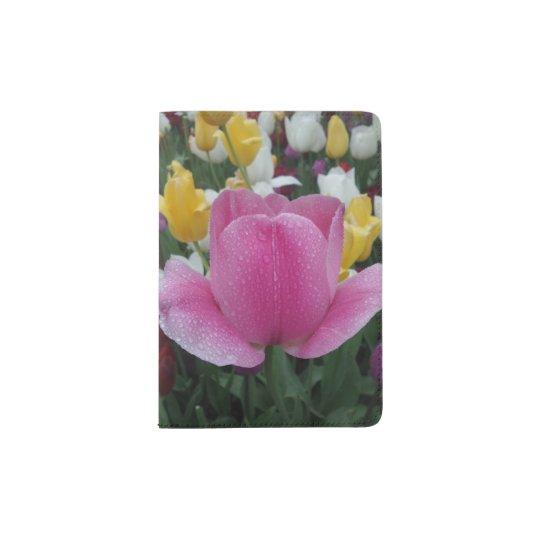 Tenedor de encargo del pasaporte del tulipán portapasaportes