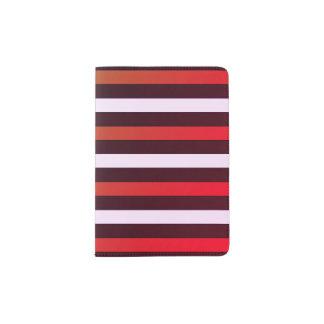 Tenedor de encargo rayado del pasaporte porta pasaportes