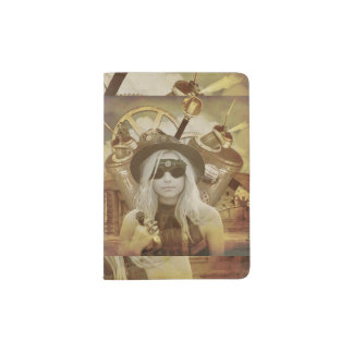 Tenedor de la caja del pasaporte del chica de portapasaportes