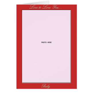 Tenedor de la foto del el día de San Valentín Tarjeta De Felicitación